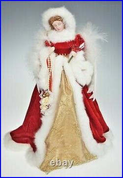 15.5 Angel Tree Topper Feather Wings Lg Angelic Christmas Centerpiece Holiday