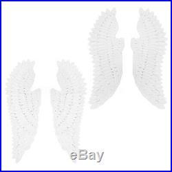 1 Pair Retro Angel Wings White Wall Hanging Livingroom Bedroom Decor Iron 43/52