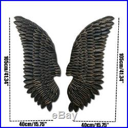 1 Pairs Large Angel Wings Iron Art Wall Ornament Pub Bar Coffe Shop Decor