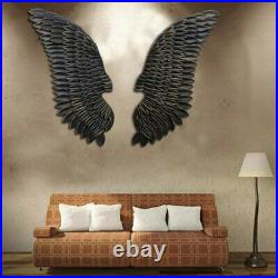 1 Pairs Large Angel Wings Iron Art Wall Ornament Pub Bar Wall Mounted Home
