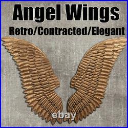 1 Pairs Large Angel Wings Iron Art Wall Ornament Pub Bar Wall Xmas Home