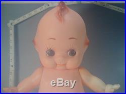 21.6 Kewpie Mayonnaise Doll #796 Large Vtg Rubber Baby Angel Orange Wings Japan