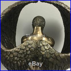 24 Large Winged Guardian artistic nude angel Statue Sculpture Figurine