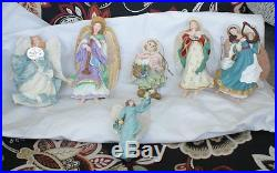 25 in lot HALLMARK large lot vintage winged angel HOLIDAY ANGELS ORNAMENTS