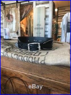 3D Belt Co Angel Wings Black Leather Belt! Genuine Leather