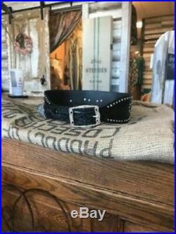 3D Belt Co Angel Wings Black Leather Belt! NEW