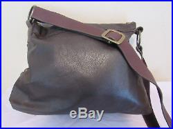 $795.00 Leatherock Brown Leather Studded Hearts Angels Wings Large Bag