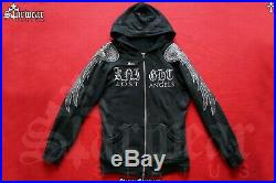 Amiri Angel Wings Wax Coat Punk Rocker Hoodie Biker Jacket M/L Jaded By Knight