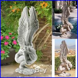 Angel Sculpture Statue Garden Ornament Decor Art Statuary Yard Art Wings Patio