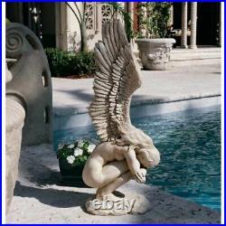 Angel Statue Garden Ornament Figurine Patio Sculpture Memorial Decor Large Wings