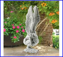 Angel Statue Sculpture Garden Art Decor Pool Side Outdoor Home Yard Large Wings
