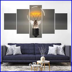 Angel Wing Glowworm Light Composing Canvas Print Painting Home Decor Wall Art