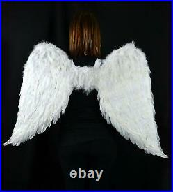 Angel Wings Adult Large Costume Men White For Women Halloween Theme Party Straps