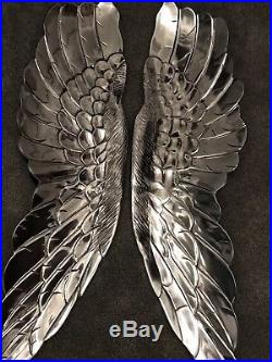 Angel Wings EXTRA LARGE Wall Hanging. 115cm. HIGH POLISHED SOLID ALUMINIUM