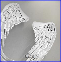Angel wings wall decor Noble Angles Landing Iron modern Large metal sculpture