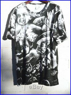 Antique Gorham Cherub Angel Shirt Putti Top Black Putti Cupid Wings Extra Large
