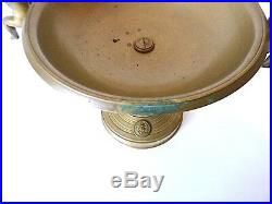 Antique Large Cup Bronze 19th Putti Lovers Napoleon III Cassolette Angel Wings
