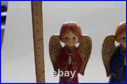 Ardco Angels Trio 3 Three Large Wings Vintage Girls Praying Girls Christmas