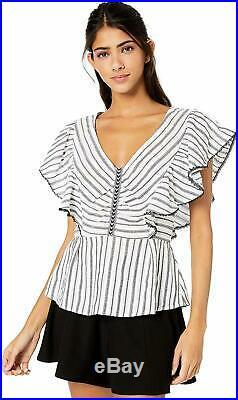 BCBGMAXAZRIA Women's Striped Angel Wing Top Choose SZ/Color
