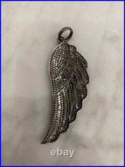 BNWOT Gorgeous Pave Diamond Large Angel Wing Pendant