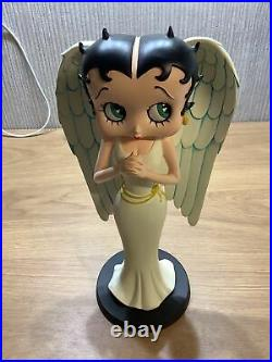 Betty Boop Standing Angel Wings Pray Large Figurine Rare Retired Ornament