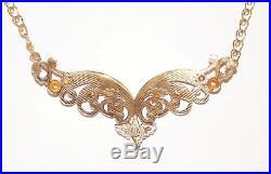 Black Hills Gold Coleman 10 kt 12 kt Large Angel Wings Necklace 10 Kt Chain