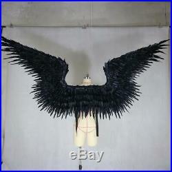 Black feathered wing devil angel Halloween wings catwalk model large cosplay