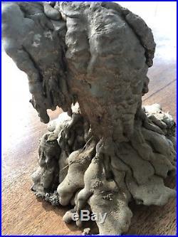 Bronze Metal Vintage Sculpture Large Heavy Statue Meltdown Art Deco Angel Wings