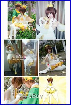 CARD CAPTOR SAKURA bubble skirt Angel wings Dress Outfit Cosplay Costume