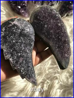 Dark Large Amethyst Druzy Angel Wing Pair 1 Christmas Gift