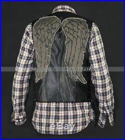 Daryl dixon wings vest jacket Motorcycle vest Angel wings vest