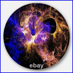 Designart'Wings of Angels Blue in Black' Abstract Digital Extra Large