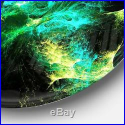 Designart'Wings of Angels Green in Black' Abstract Digital Extra Large