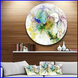 Designart'Wings of Angels Purple' Abstract Digital Art Disc Extra Large