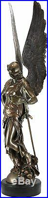 Ebros Large 35 Tall Winged Victory Angel of Justice with Sword & Helmet Statue