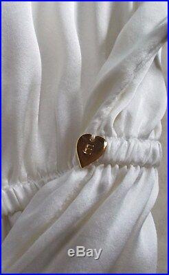 Elissa Coleman Silk Mega Top White Citrus Hand-painted Angel Sleeve New Tags Lrg