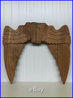 Exceptional Large Pair of Angel Wings carved in wood