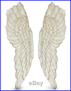 Extra Large Pair of Antique Gold Wall Angel Wings Art Picture Mounted French