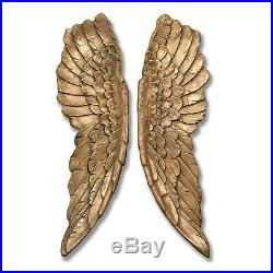Extra Large Wall Mounted Angel Wings 104cm Antique Gold Wall Hanging Home Decor