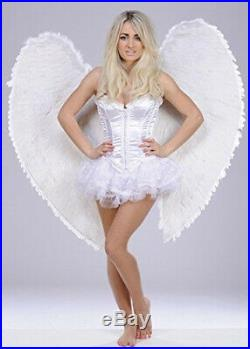 Extra Large White Heavenly Angel Feather Wings on Straps. Palmers