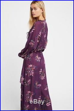 FREE PEOPLE FP ONE Angel Wing Jumpsuit Large L NWT NEW Plum Last one