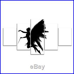 Fairy Angel Wing Feather B&W Canvas Print Painting Framed Home Decor Wall Art