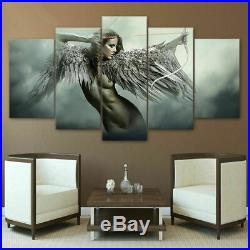 Fantasy Angel Warrior Wing Girl Movies Canvas Prints Painting Wall Art 5PCS