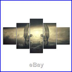 Fantasy Angel Wing Mystical Canvas Print Painting Framed Home Decor Wall Art Pic