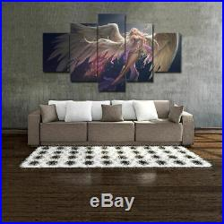 Framed Decor Angel Girl Wings Warror Fairy Canvas Prints Painting Wall Art 5PCS