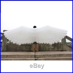 Free shipment length 4m inflatable large feather angel wings for party decoratio