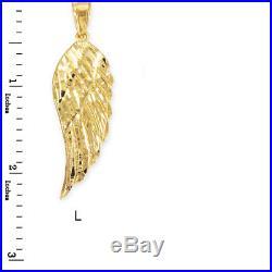 Gold DC Angel Wing Pendant (10k, 14k, small, medium, large, yellow, white, rose)