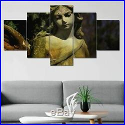 Guardian Angel Statue Child Wing 5 panel canvas Wall Art Home Decor Print Poster