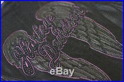 Harley Davidson Women NIGHT ANGEL Purple Wings Black Leather Jacket 97013-14VW L