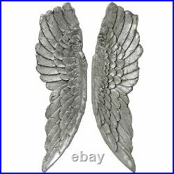 Hill Interiors Antique Silver Large Hanging Angel Wings (HI2163)